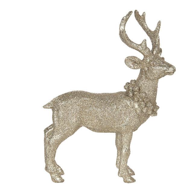 Clayre & Eef Decoratie hert 16*6*21 cm 6PR3027