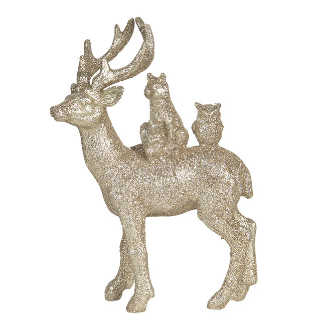 Clayre & Eef Decoratie hert 14*4*19 cm 6PR3035