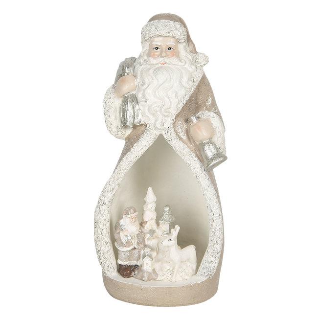 Clayre & Eef Decoratie kerstman LED 8*7*17 cm 6PR3069