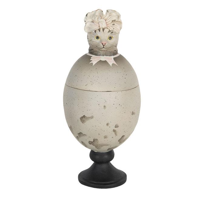 Clayre & Eef Decoratie kat 13*13*28 cm 6PR3101