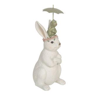 Clayre & Eef Clayre & Eef Decoratie konijn en kikker 12*10*24 cm 6PR3116