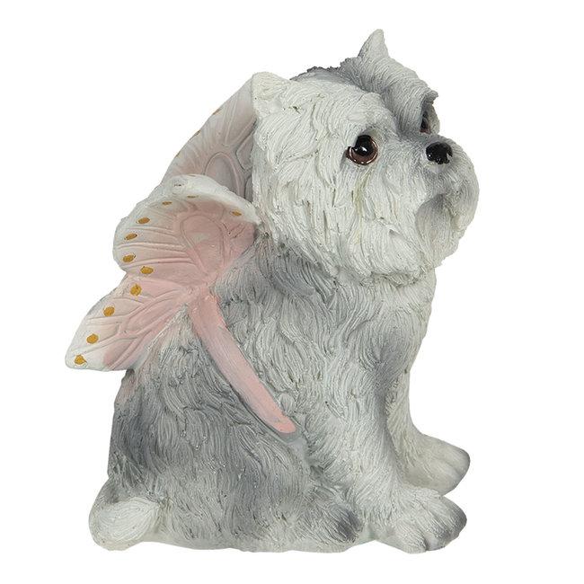 Clayre & Eef Decoratie hond 11*10*13 cm 6PR3119