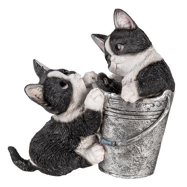 Clayre & Eef Decoratie katten 23*13*18 cm 6PR3335