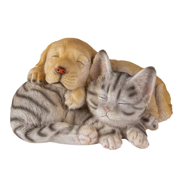 Clayre & Eef Decoratie hond en kat 20*15*11 cm 6PR3336