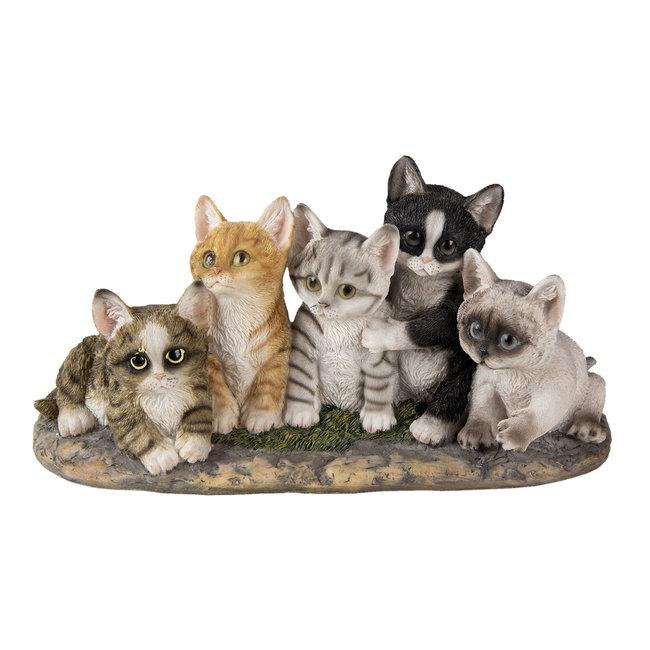 Clayre & Eef Decoratie katten 32*13*16 cm 6PR3339