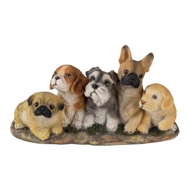 Clayre & Eef Decoratie honden 33*12*17 cm 6PR3341