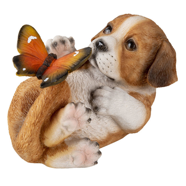 Clayre & Eef Decoratie hond 14*9*10 cm 6PR3363