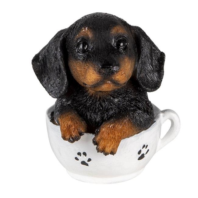 Clayre & Eef Decoratie hond 8*7*9 cm 6PR3371