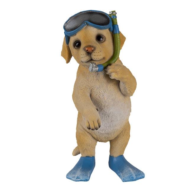 Clayre & Eef Decoratie hond 11*11*23 cm 6PR3375