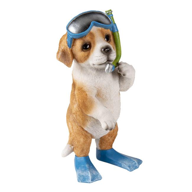 Clayre & Eef Decoratie hond 11*11*23 cm 6PR3376
