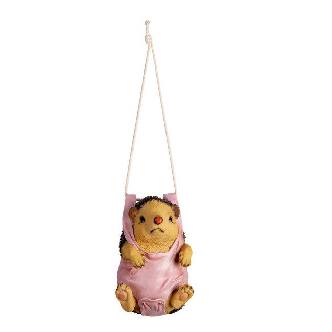 Clayre & Eef Decoratie hangend egel 13*10*17 cm 6PR3377