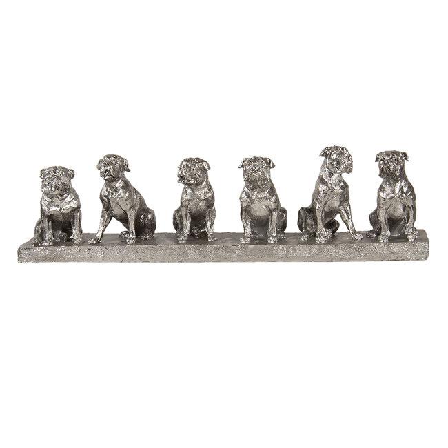 Clayre & Eef Decoratie honden 52*12*14 cm 6PR3379