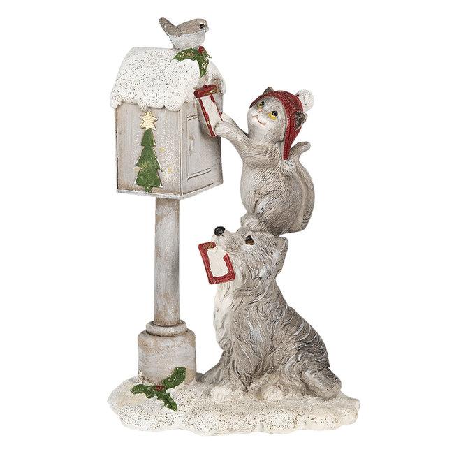 Clayre & Eef Decoratie hond en kat 11*6*17 cm 6PR3488
