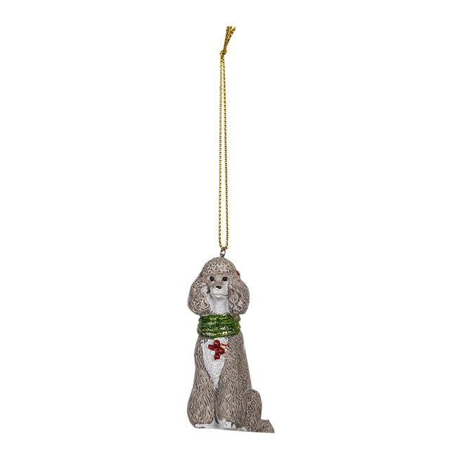 Clayre & Eef Decoratie hanger hond 5*3*8 cm 6PR3490
