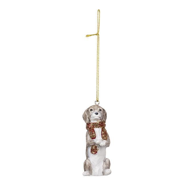 Clayre & Eef Decoratie hanger hond 4*3*8 cm 6PR3491