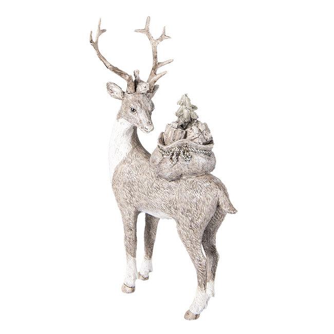 Clayre & Eef Decoratie hert 15*9*26 cm 6PR4606