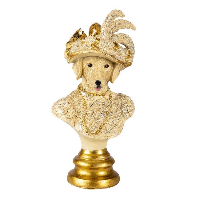 Clayre & Eef Decoratie hond 10*8*20 cm 6PR4616