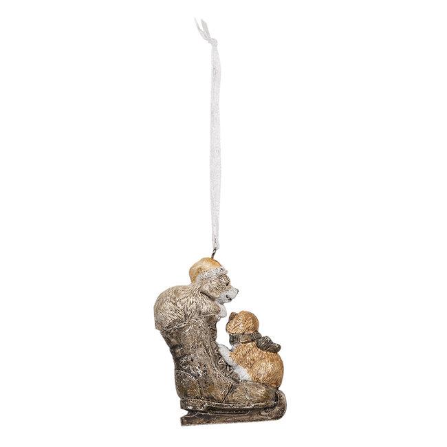 Clayre & Eef Decoratie hanger honden 6*2*8 cm 6PR4641