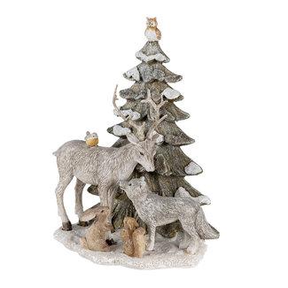 Clayre & Eef Clayre & Eef Decoratie dieren bij kerstboom 18*10*21 cm 6PR4648