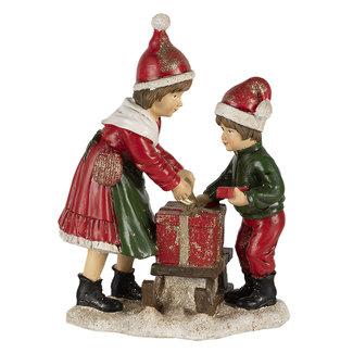 Clayre & Eef Clayre & Eef Decoratie kinderen met slee 15*10*20 cm 6PR4668
