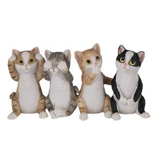 Clayre & Eef Clayre & Eef Decoratie katten 20*6*10 cm 6PR4677