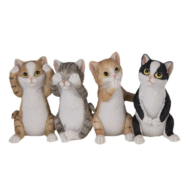 Clayre & Eef Decoratie katten 20*6*10 cm 6PR4677