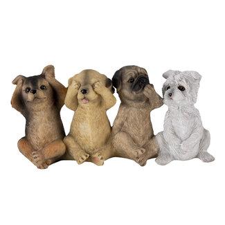 Clayre & Eef Clayre & Eef Decoratie honden 19*6*9 cm 6PR4678