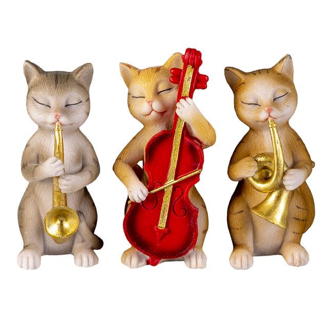 Clayre & Eef Decoratie katten 14*6*10 cm (set 3) 6PR4683