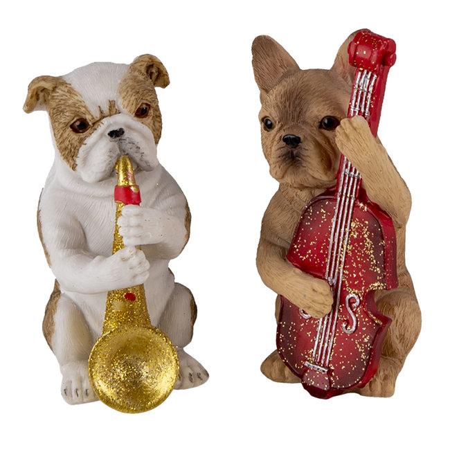 Clayre & Eef Decoratie honden (3) 14*6*10 cm 6PR4684