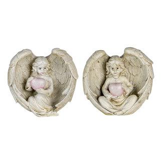 Clayre & Eef Clayre & Eef Decoratie engelen (2) 10*6*10 cm 6PR4708