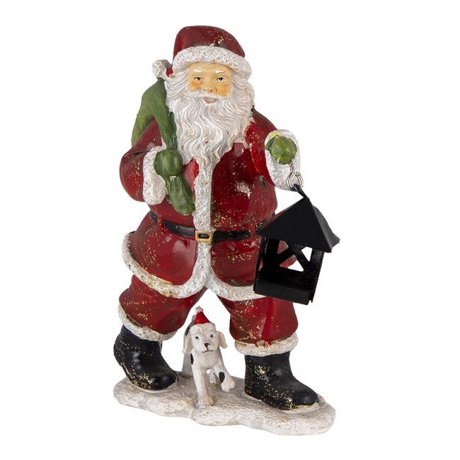 Clayre & Eef Decoratie kerstman 11*6*15 cm 6PR4724