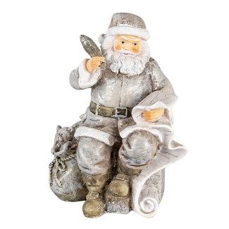 Clayre & Eef Clayre & Eef Decoratie kerstman 10*7*13 cm 6PR4726