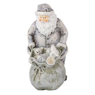 Clayre & Eef Clayre & Eef Decoratie kerstman 10*7*13 cm 6PR4729