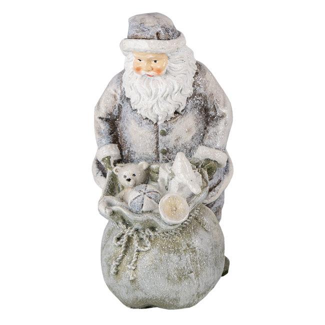 Clayre & Eef Decoratie kerstman 10*7*13 cm 6PR4729