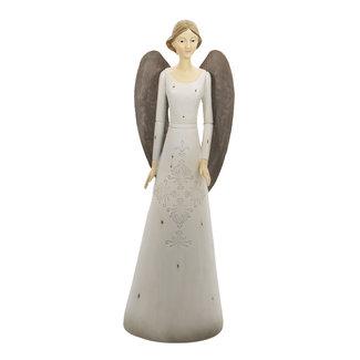 Clayre & Eef Clayre & Eef Decoratie engel 15*13*47 cm 6PR4744