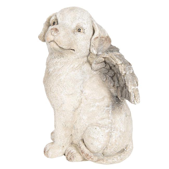 Clayre & Eef Decoratie hond met vleugels 24*24*33 cm 6TE0252