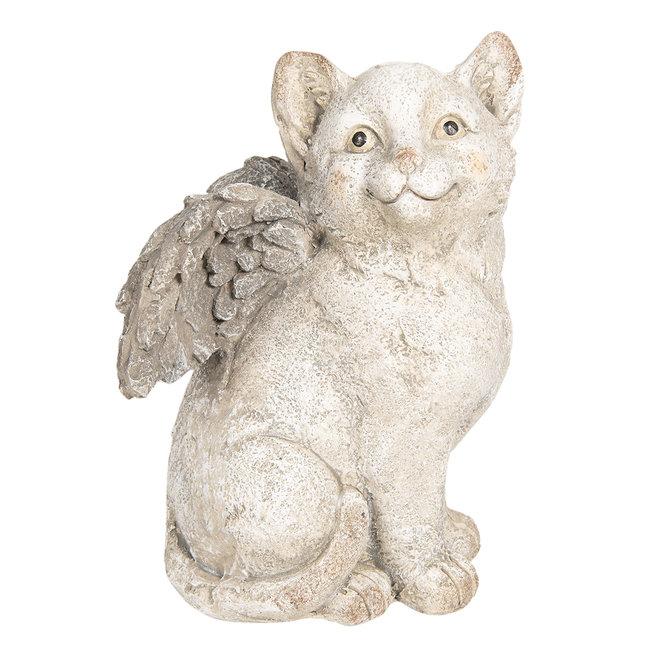 Clayre & Eef Decoratie kat met vleugels 23*23*33 cm 6TE0253