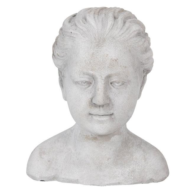 Clayre & Eef Decoratie hoofd vrouw 17*16*20 cm 6TE0288