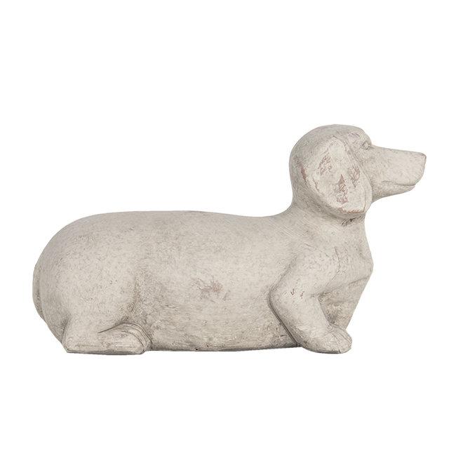 Clayre & Eef Decoratie hond 24*9*13 cm 6TE0297