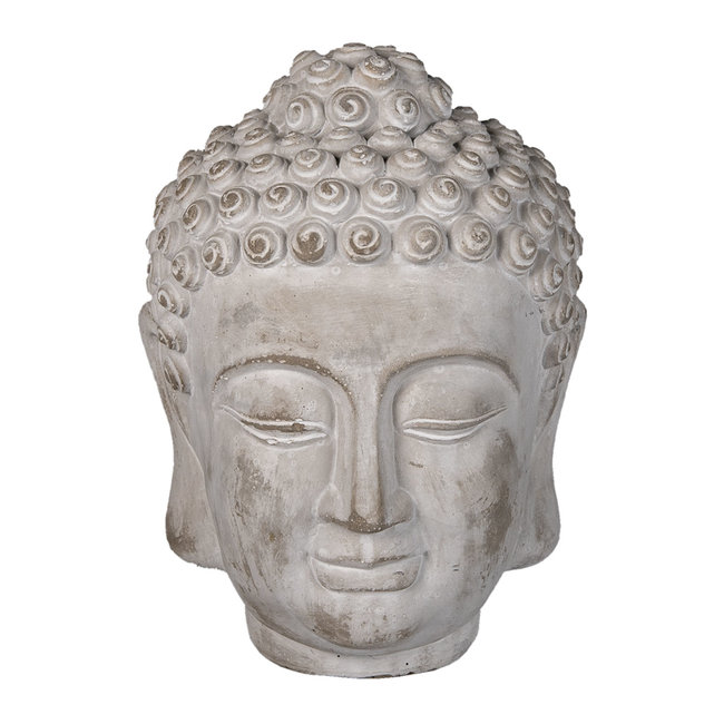Clayre & Eef Decoratie hoofd Boeddha 17*17*24 cm 6TE0360L