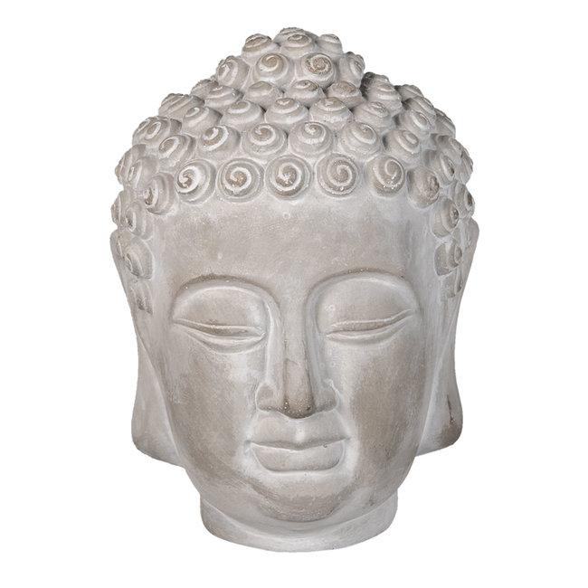 Clayre & Eef Decoratie hoofd Boeddha 15*15*19 cm 6TE0360M