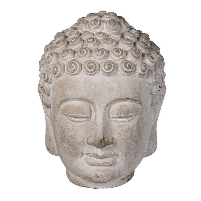 Clayre & Eef Decoratie hoofd Boeddha 13*14*17 cm 6TE0360S