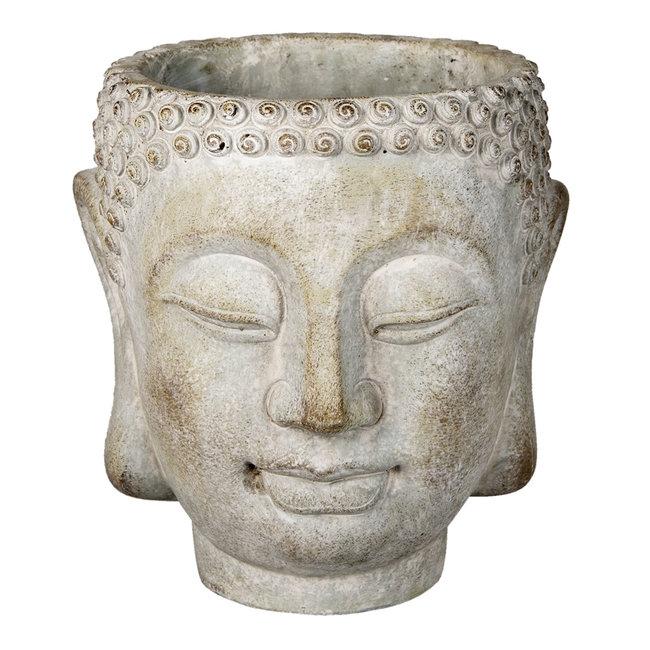 Clayre & Eef Bloempot Boeddha 20*18*21 cm 6TE0364XL