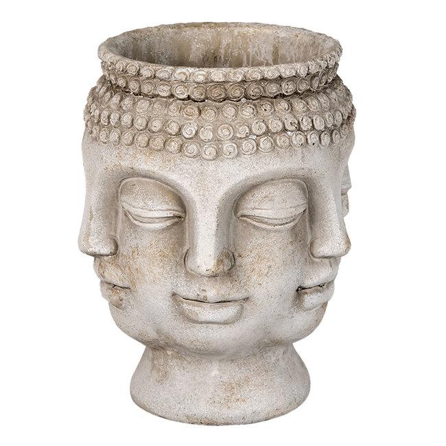 Clayre & Eef Bloempot Boeddha 15*14*18 cm 6TE0370