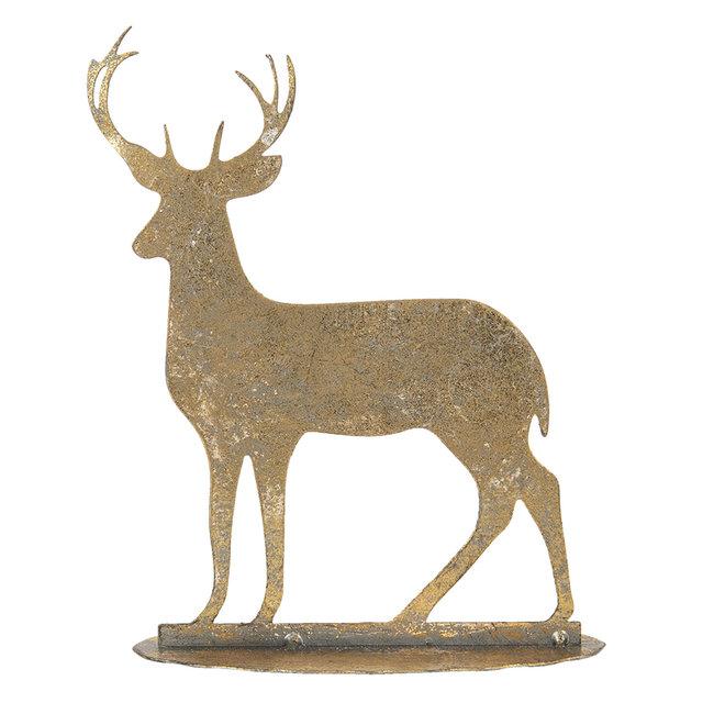 Clayre & Eef Decoratie hanger hert 14*5*17 cm 6Y3883
