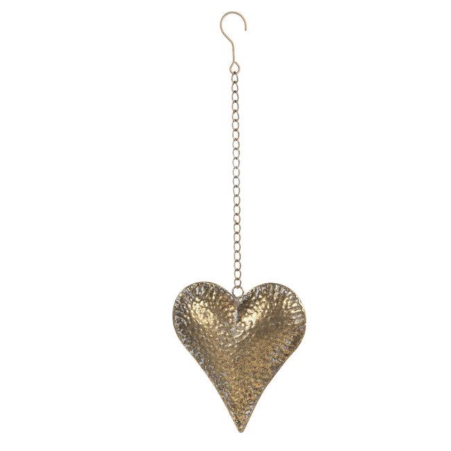 Clayre & Eef Decoratie hanger hart 18*5*20 cm 6Y4032