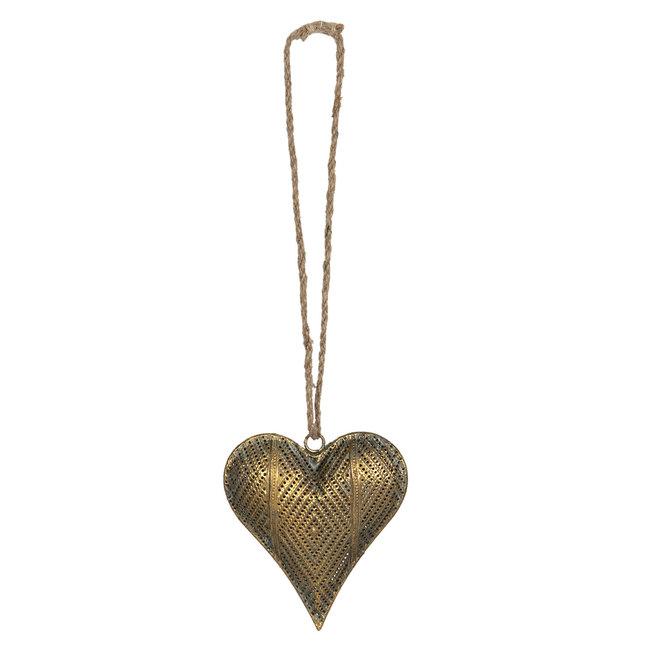 Clayre & Eef Decoratie hanger hart 14*4*16 cm 6Y4033