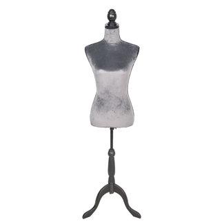 Clayre & Eef Clayre & Eef Decoratie paspop grijs 38*40*165 cm BU0030G