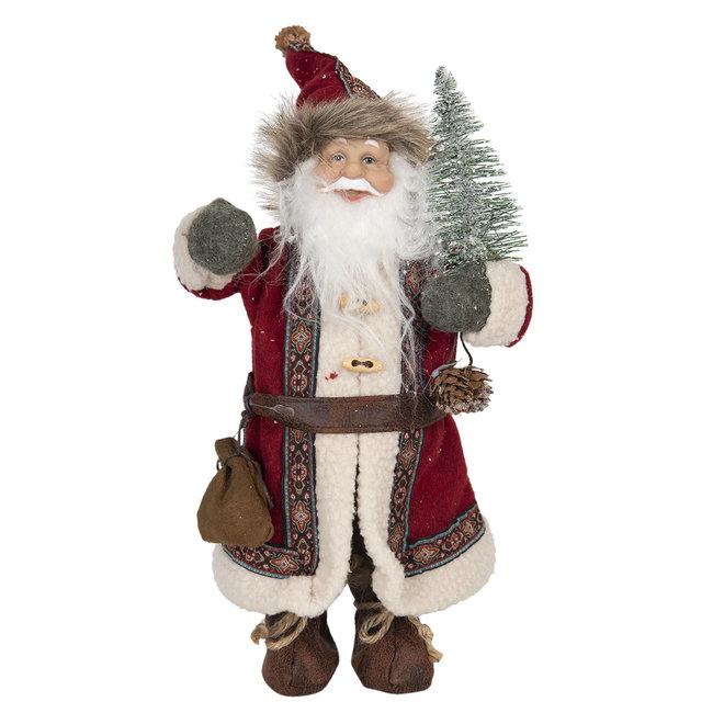 Clayre & Eef Decoratie kerstman 14*11*30 cm 64639