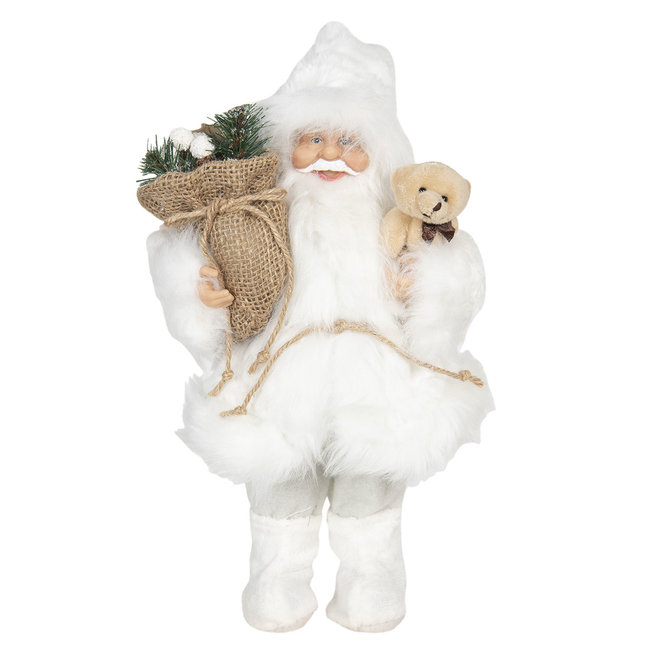 Clayre & Eef Decoratie kerstman 15*11*30 cm 64641